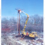 Grattan Line performing right of way pole sets.